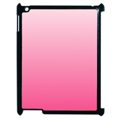 Piggy Pink To French Rose Gradient Apple Ipad 2 Case (black) by BestCustomGiftsForYou