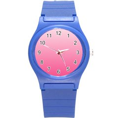 Piggy Pink To French Rose Gradient Plastic Sport Watch (small)