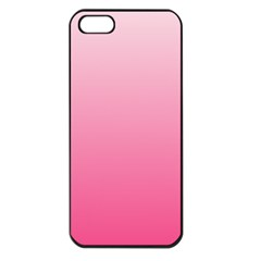 Piggy Pink To French Rose Gradient Apple Iphone 5 Seamless Case (black)