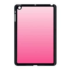 Piggy Pink To French Rose Gradient Apple Ipad Mini Case (black)