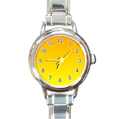Chrome Yellow To Yellow Gradient Round Italian Charm Watch