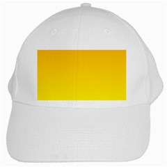 Chrome Yellow To Yellow Gradient White Baseball Cap by BestCustomGiftsForYou