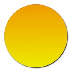 Chrome Yellow To Yellow Gradient 8  Mouse Pad (round)