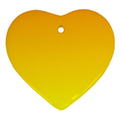 Chrome Yellow To Yellow Gradient Heart Ornament by BestCustomGiftsForYou