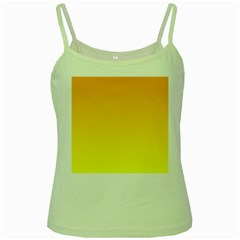 Chrome Yellow To Yellow Gradient Green Spaghetti Tank by BestCustomGiftsForYou