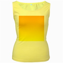 Chrome Yellow To Yellow Gradient Womens  Tank Top (yellow) by BestCustomGiftsForYou