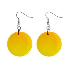 Chrome Yellow To Yellow Gradient Mini Button Earrings by BestCustomGiftsForYou