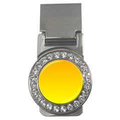Chrome Yellow To Yellow Gradient Money Clip (cz) by BestCustomGiftsForYou
