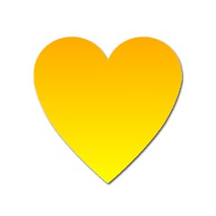 Chrome Yellow To Yellow Gradient Magnet (heart)