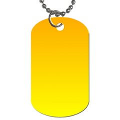 Chrome Yellow To Yellow Gradient Dog Tag (two Sided)  by BestCustomGiftsForYou