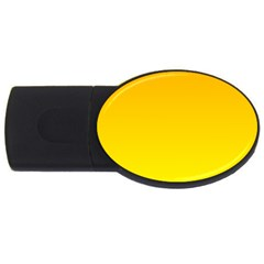 Chrome Yellow To Yellow Gradient 2gb Usb Flash Drive (oval) by BestCustomGiftsForYou