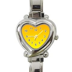 Chrome Yellow To Yellow Gradient Heart Italian Charm Watch
