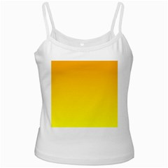 Chrome Yellow To Yellow Gradient White Spaghetti Top