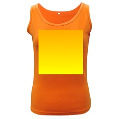 Chrome Yellow To Yellow Gradient Womens  Tank Top (dark Colored)