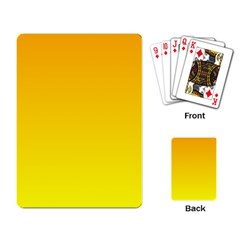 Chrome Yellow To Yellow Gradient Playing Cards Single Design by BestCustomGiftsForYou
