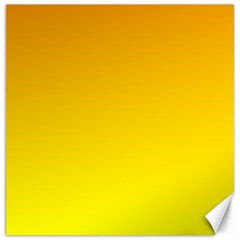 Chrome Yellow To Yellow Gradient Canvas 12  X 12  (unframed) by BestCustomGiftsForYou