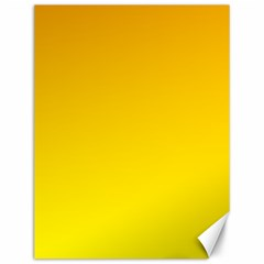 Chrome Yellow To Yellow Gradient Canvas 12  X 16  (unframed)