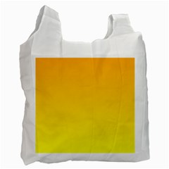 Chrome Yellow To Yellow Gradient Recycle Bag (one Side) by BestCustomGiftsForYou