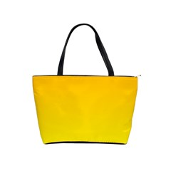 Chrome Yellow To Yellow Gradient Large Shoulder Bag by BestCustomGiftsForYou