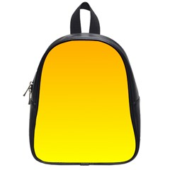 Chrome Yellow To Yellow Gradient School Bag (small) by BestCustomGiftsForYou