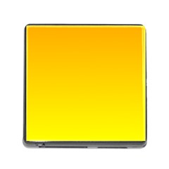 Chrome Yellow To Yellow Gradient Memory Card Reader With Storage (square) by BestCustomGiftsForYou