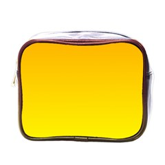 Chrome Yellow To Yellow Gradient Mini Travel Toiletry Bag (one Side)
