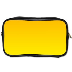 Chrome Yellow To Yellow Gradient Travel Toiletry Bag (two Sides) by BestCustomGiftsForYou