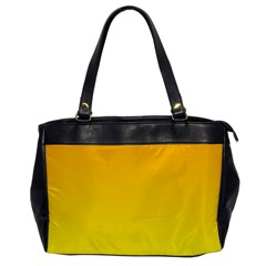 Chrome Yellow To Yellow Gradient Oversize Office Handbag (one Side)