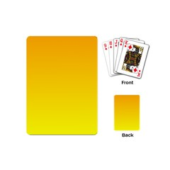 Chrome Yellow To Yellow Gradient Playing Cards (mini) by BestCustomGiftsForYou
