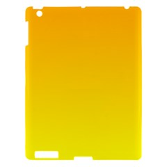 Chrome Yellow To Yellow Gradient Apple Ipad 3/4 Hardshell Case by BestCustomGiftsForYou