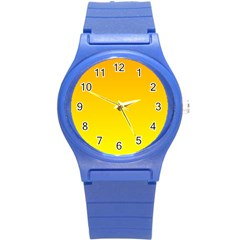 Chrome Yellow To Yellow Gradient Plastic Sport Watch (small) by BestCustomGiftsForYou