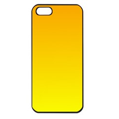 Chrome Yellow To Yellow Gradient Apple Iphone 5 Seamless Case (black)