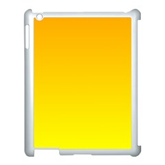 Chrome Yellow To Yellow Gradient Apple Ipad 3/4 Case (white)