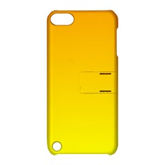 Chrome Yellow To Yellow Gradient Apple Ipod Touch 5 Hardshell Case With Stand