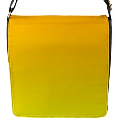 Chrome Yellow To Yellow Gradient Flap Closure Messenger Bag (small) by BestCustomGiftsForYou