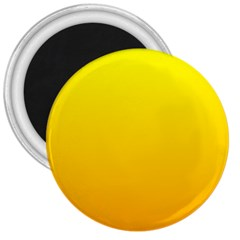 Yellow To Chrome Yellow Gradient 3  Button Magnet