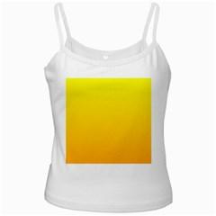 Yellow To Chrome Yellow Gradient White Spaghetti Tank