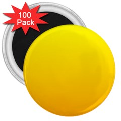 Yellow To Chrome Yellow Gradient 3  Button Magnet (100 Pack)