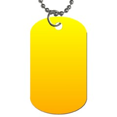 Yellow To Chrome Yellow Gradient Dog Tag (two Sided)  by BestCustomGiftsForYou