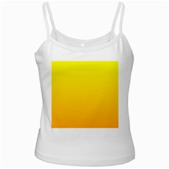 Yellow To Chrome Yellow Gradient White Spaghetti Top