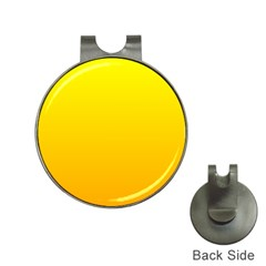 Yellow To Chrome Yellow Gradient Hat Clip With Golf Ball Marker by BestCustomGiftsForYou