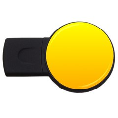 Yellow To Chrome Yellow Gradient 4gb Usb Flash Drive (round) by BestCustomGiftsForYou