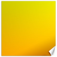Yellow To Chrome Yellow Gradient Canvas 20  X 20  (unframed) by BestCustomGiftsForYou