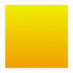 Yellow To Chrome Yellow Gradient Glasses Cloth (medium, Two Sided)