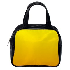 Yellow To Chrome Yellow Gradient Classic Handbag (one Side)