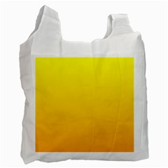 Yellow To Chrome Yellow Gradient Recycle Bag (two Sides) by BestCustomGiftsForYou