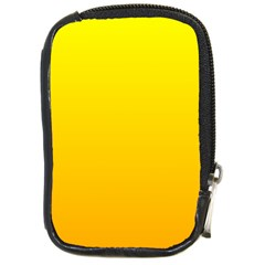 Yellow To Chrome Yellow Gradient Compact Camera Leather Case