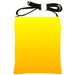 Yellow To Chrome Yellow Gradient Shoulder Sling Bag by BestCustomGiftsForYou