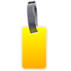 Yellow To Chrome Yellow Gradient Luggage Tag (one Side) by BestCustomGiftsForYou