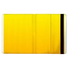 Yellow To Chrome Yellow Gradient Apple Ipad 2 Flip Case by BestCustomGiftsForYou